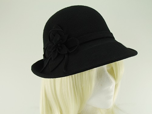 Hawkins Collection Wool Felt Vintage Cloche Bucket Hat