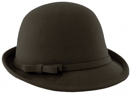 Hawkins Collection Wool Vintage Cloche Small Bow Hat