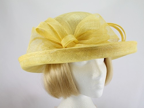 c5c458c63dc0c Wedding Hats 4U - Blackberry Hats Lemon Formal Hat