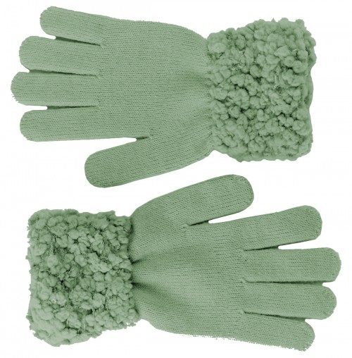 Hawkins Ladies Sequined Popcorn Yarn Gloves