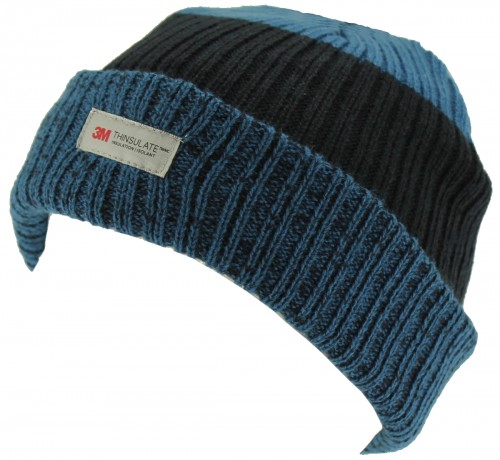 SSP Hats Kids Thinsulate Two Tone Beanie Hat in Blue