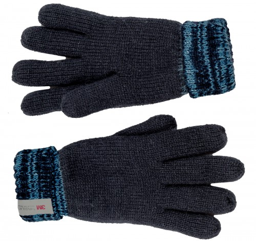SSP Hats Kids Thinsulate Two Tone Gloves in Blue