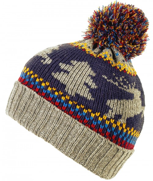 Boardman Xmas Themed Colourful Mens Beanie Bobble Hat