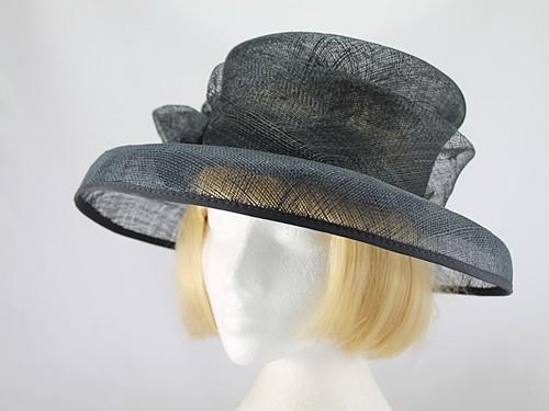 British Hat Guild Black Formal Hat