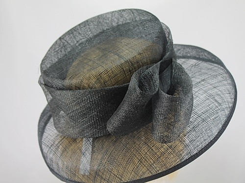 British Hat Guild Black Formal Hat