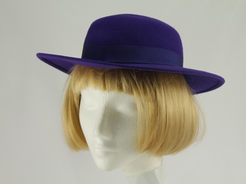 British Hat Guild Purple Formal Hat