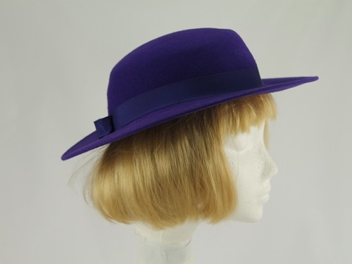 British Hat Guild Purple Formal Hat