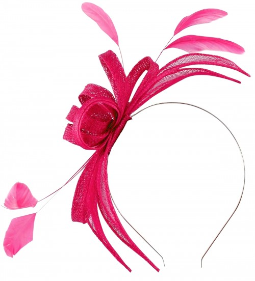 Failsworth Millinery Aliceband Sinamay Fascinator in Calypso