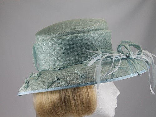 Cappelli Condici Pale Green Wedding hat