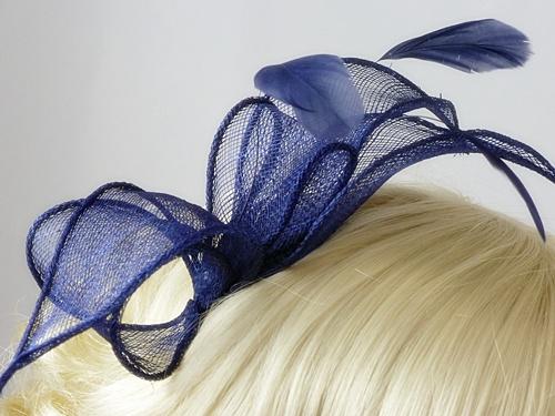 a01f1d117b284 Wedding Hats 4U - Carla Fascinator in Navy
