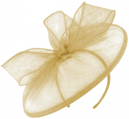 Failsworth Millinery Disc Headpiece in Champagne