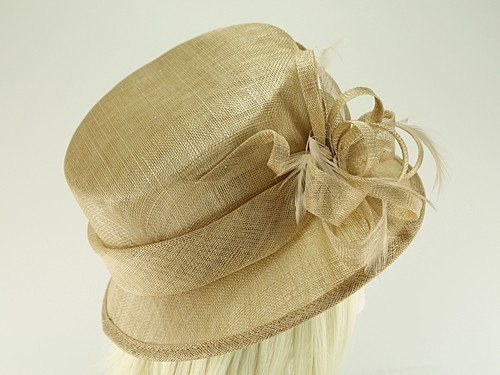 Hawkins Collection Short Down Brim Wedding Hat
