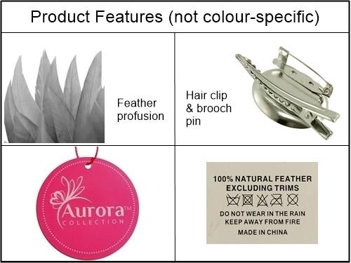 Aurora Collection Feather Fascinator