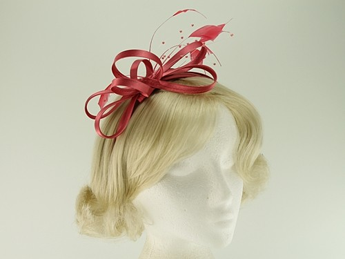 Elegance Collection Satin Loops Aliceband Fascinator