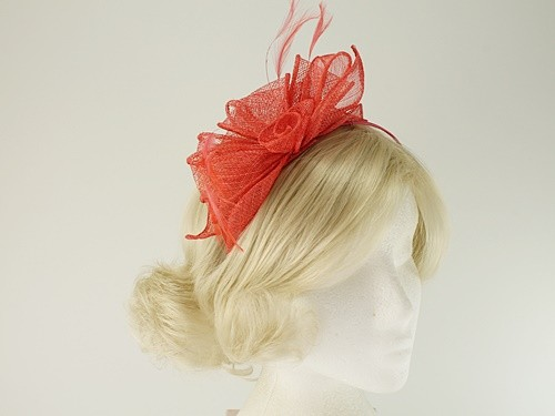 Aurora Collection Rosette and Loops Fascinator