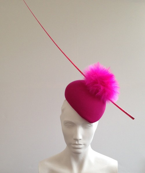 Couture by Beth Hirst Animal Shocking Pink Beret