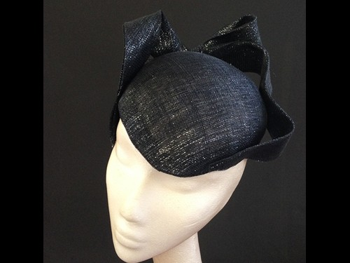 Couture by Beth Hirst Black and Silver French Beret