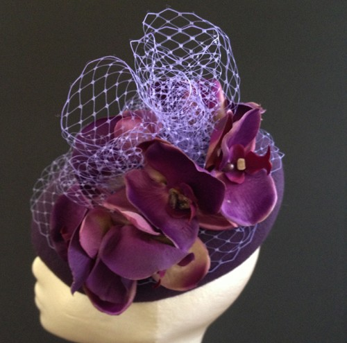 Couture by Beth Hirst Dark Orchid Beret