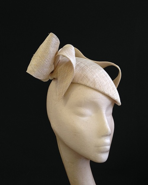 Couture by Beth Hirst Ivory and Gold French Beret