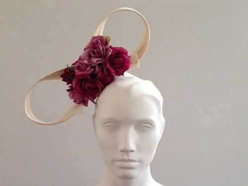 Couture by Beth Hirst Minnie � Cream Bow with Pink Roses