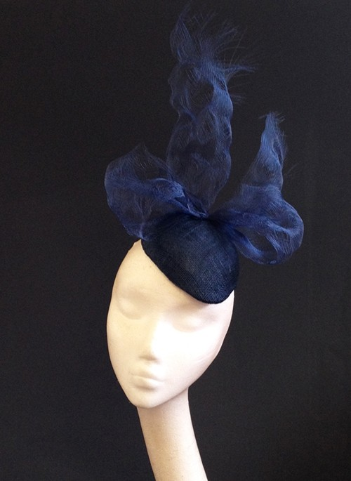Couture by Beth Hirst Navy Distressed Crin Bow Percher