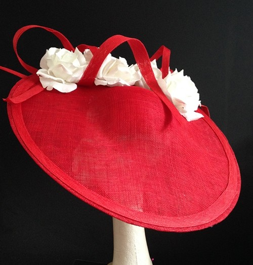 Couture by Beth Hirst Red and White Large Saucer