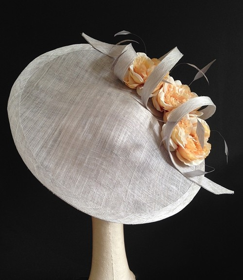 Couture by Beth Hirst Silver and Coral Saucer