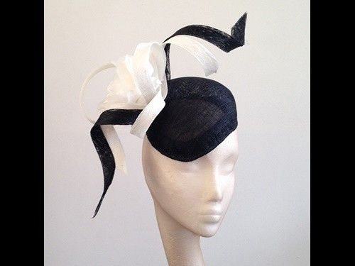 Couture by Beth Hirst Fiona Black and Ivory Twist Beret
