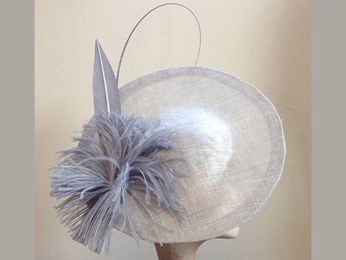 Couture by Beth Hirst Silver Saucer with Feather Details