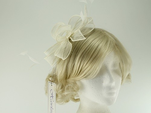 b1bb766a0f034 Hawkins Collection Sinamay Fascinator in Cream