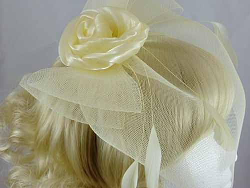 Flower and Veil Fascinator