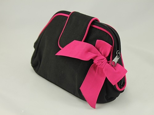 Cynthia Rowley Black and Pink Clutch Bag
