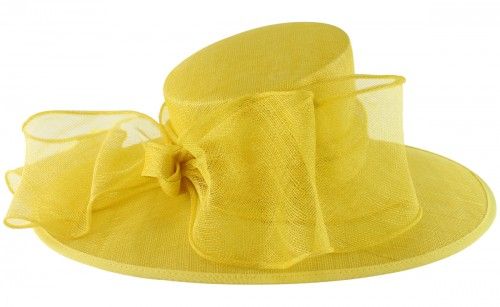 Failsworth Millinery Bow Events Hat in Daffodil