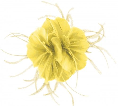 Failsworth Millinery Feather Fascinator in Daffodil
