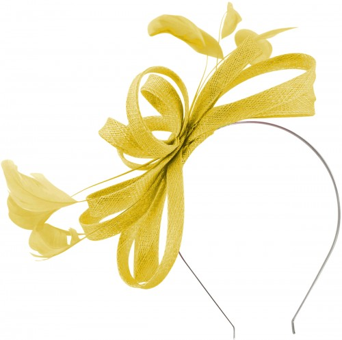 Failsworth Millinery Sinamay Loops Fascinator in Daffodil