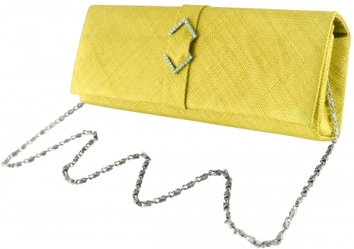 Failsworth Millinery Sinamay Occasion Bag in Daffodil