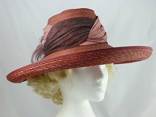 Dark Pink Occasion Hat
