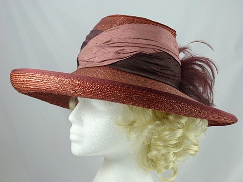 Dark Pink Occasion Hat