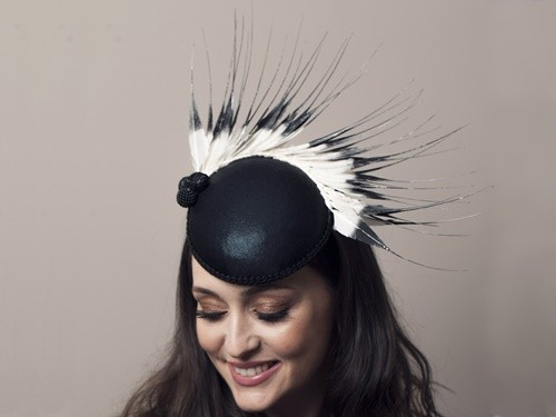 Deb Fanning Millinery Black and White Smartie Hat
