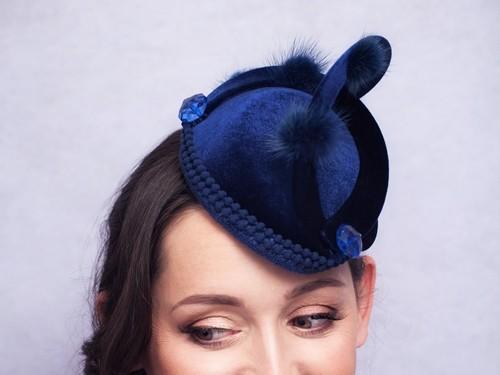 Deb Fanning Millinery Navy Neptune Hat