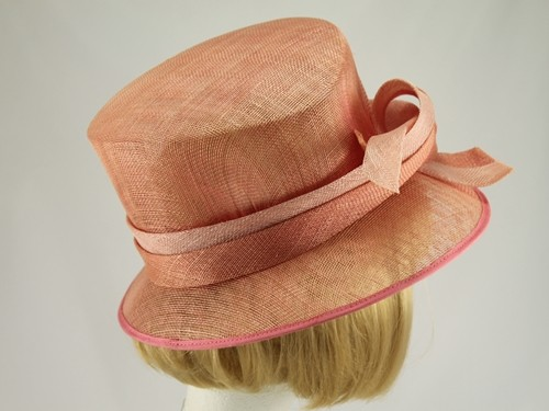 Debut Pale Salmon and Pink Formal Hat