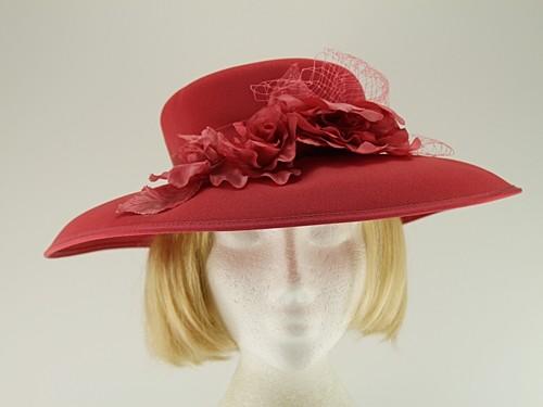Eastex Coral Wedding Hat