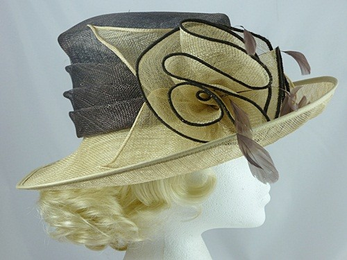 123362118c199 Wedding Hats 4U - Eastex Gold Wedding Hat