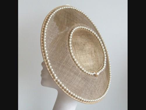 Edel Staunton Millinery Gold Disc Headpiece