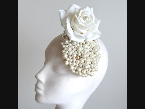 Edel Staunton Millinery White Rose Headpiece