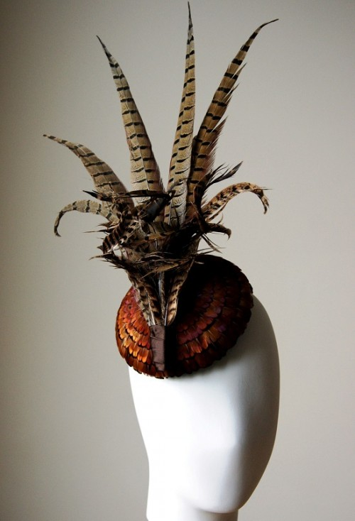Esther Louise Millinery Pheasant Feather Fascinator Hat
