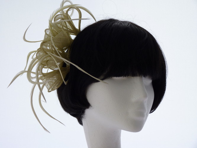 Events fascinator Lime green