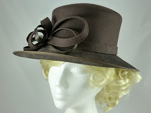 Failsworth Millinery Sinamay and Wool Events Hat
