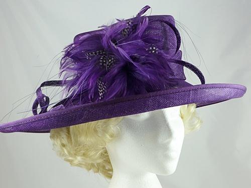 5ebe387967597 Wedding Hats 4U - Failsworth Millinery Wedding / Events Hat in Purple