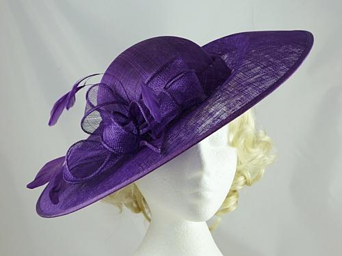ed2c430d1e8e1 Wedding Hats 4U - Failsworth Millinery Disc Events Hat in Purple